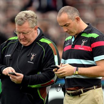 Conor O'Shea, right, blasted his side after the defeat to Scarlets