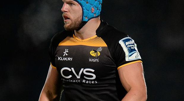 London Wasps' James Haskell during the Amlin Challenge Cup Pool four match at Adams Park, High Wycombe.
