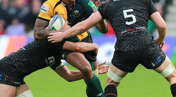 Courtney Lawes was in fine form against the Ospreys