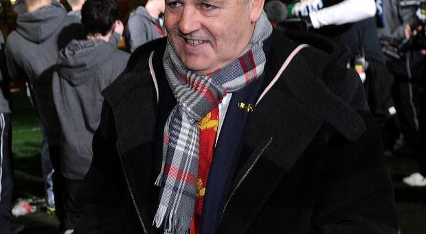 British Lions head coach Warren Gatland leaves the field after the RBS Six Nations match at the Millennium Stadium, Cardiff.