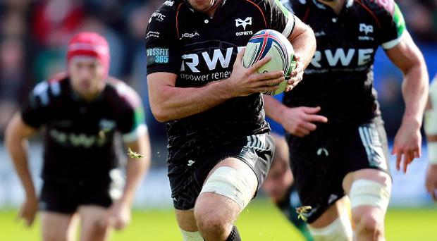 Justin Tipuric crossed twice for Ospreys in the defeat of Newport Gwent Dragons.