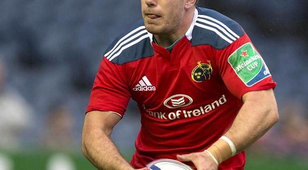 J J Hanrahan scored the only try as Munster ended Glasgow's unbeaten RaboDirect PRO12 record.
