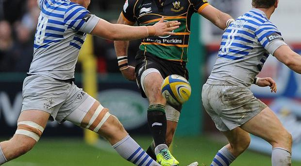 Ben Foden, centre, and Luther Burrell put in a great performance against Saracens