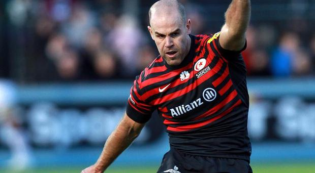 Charlie Hodgson scored 18 points as Saracens beat Newcastle.