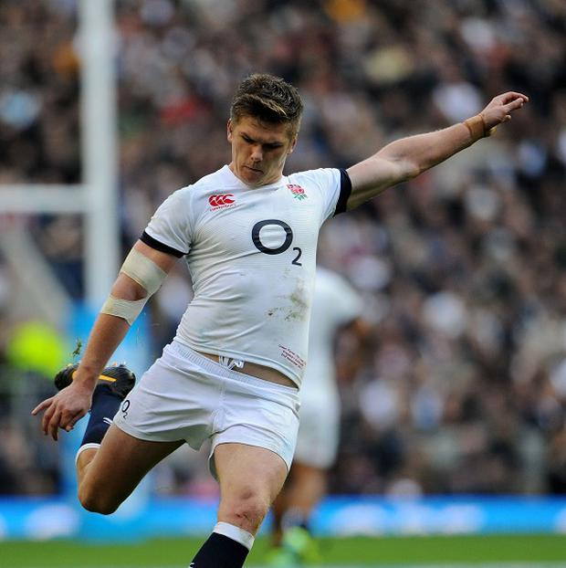 Owen Farrell kept his cool despite early misses for England.