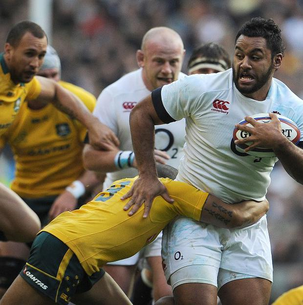 England's Billy Vunipola during the QBE International at Twickenham, London.