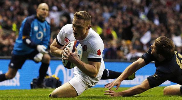 Chris Ashton goes in for England's third try
