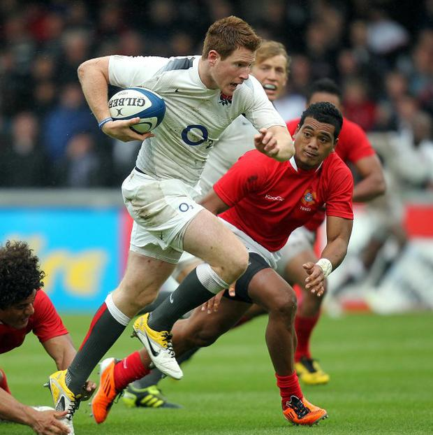 Rory Clegg, pictured playing for England Saxons, was key to Newcastle's LV= Cup victory over London Irish.