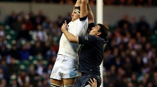 Tom Wood, left, wants England to beat New Zealand on a more regular basis.