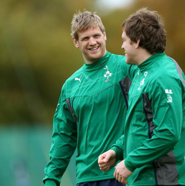 Chris Henry, left, will miss the rest of the autumn international series after tearing his hamstring