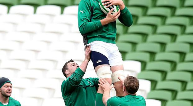 Ireland's Devin Toner, centre, is ready to face Australia