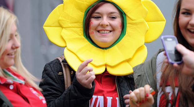 Wales fans outside the stadium ahead of the Dove Men Series match at the Millennium Stadium, Cardiff.