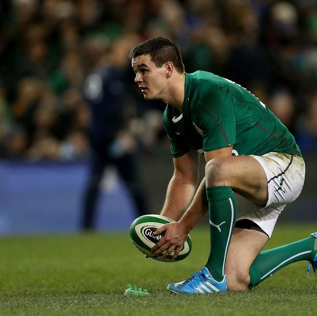Jonathan Sexton's hamstring injury is not as serious as first feared, the Ireland management have confirmed