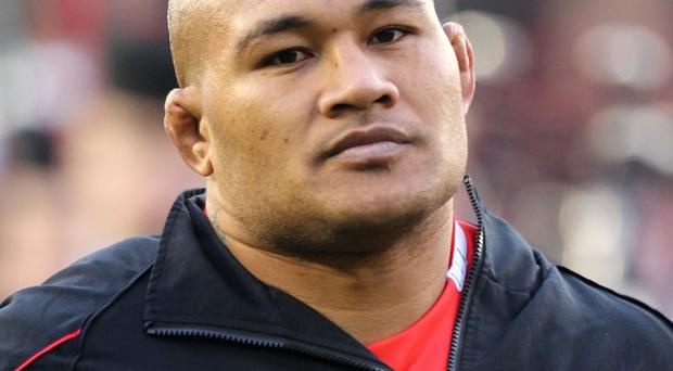 Tonga prop Sona Taumalolo, pictured, has been given a four-week ban.