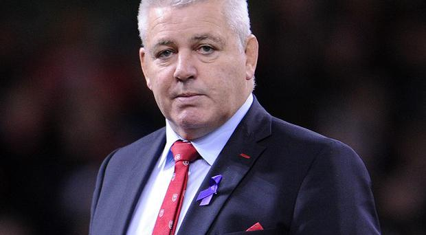 Wales' head coach Warren Gatland who will lead a Test team for the 100th time when Wales face Tonga on Friday at the Millennium Stadium, Cardiff.