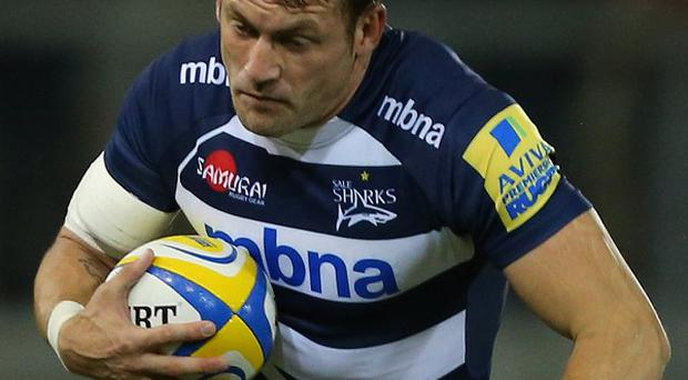 Mark Cueto scored the opening try for Sale.
