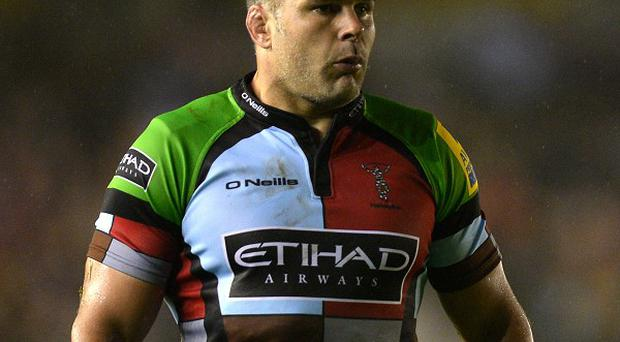 Nick Easter went over for Harlequins' first try