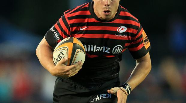 Ben Ransom crossed for the only try of the game for Saracens