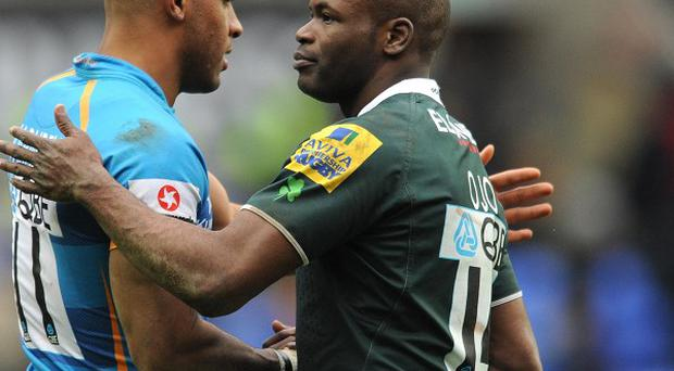 Topsy Ojo (right) who has agreed a contract extension with London Irish.