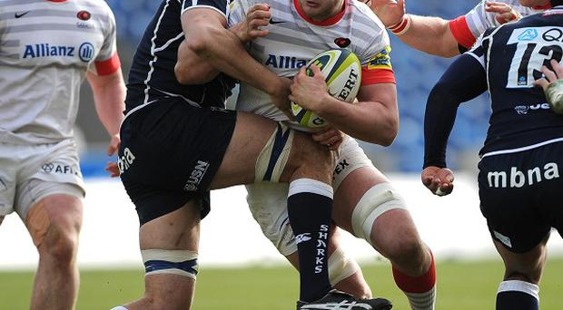 Saracen's George Kruis scored a try against Sale in Saturday's Aviva Premiership clash