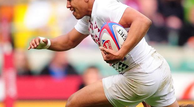 Marcus Watson scored a hat-trick of tries for England against Wales