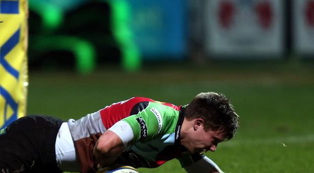 Sam Smith scored a pair of tries for Harlequins