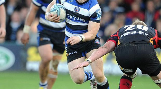 Tom Biggs, pictured, was among the scorers as Bath ran in nine tries against Rugby Mogliano.