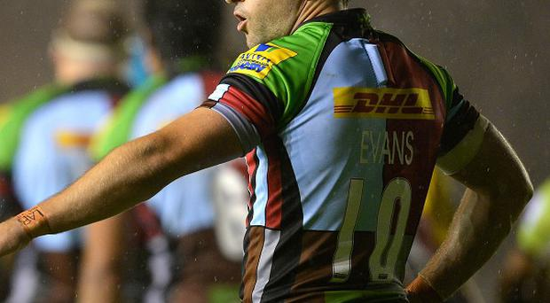 Nick Evans scored 17 points in Harlequins' Heineken Cup win over Racing Metro.