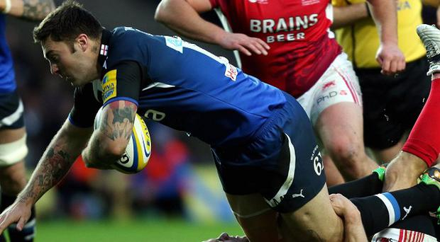 Matt Banahan (with the ball) will make his 150th appearance for Bath this weekend