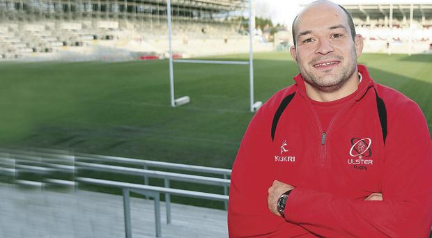 Rory Best, seen here at Ravenhill yesterday, has committed himself to Ulster for another two years