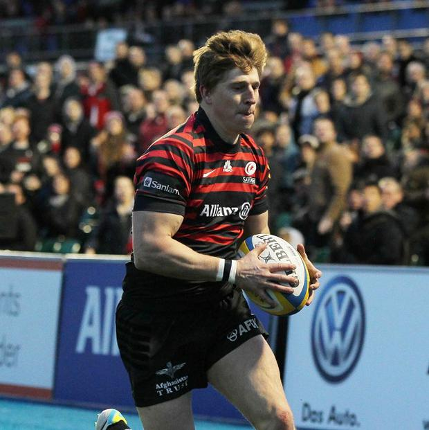 Saracens supporters will be able to replay tries like this finish for David Strettle against Newcastle, live at Allianz Park matches, on their mobile phones.