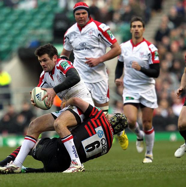 Jared Payne, here in action against Saracens, scored the only try in Ulster's 13-6 win over Zebre.