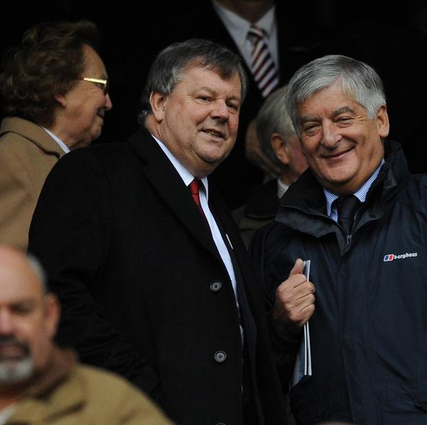RFU chief executive Ian Ritchie (left) travelled to Dublin to discuss the future of European club rugby