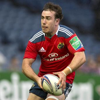 JJ Hanrahan, pictured, scored all of Munster's points as they beat Connacht on Friday