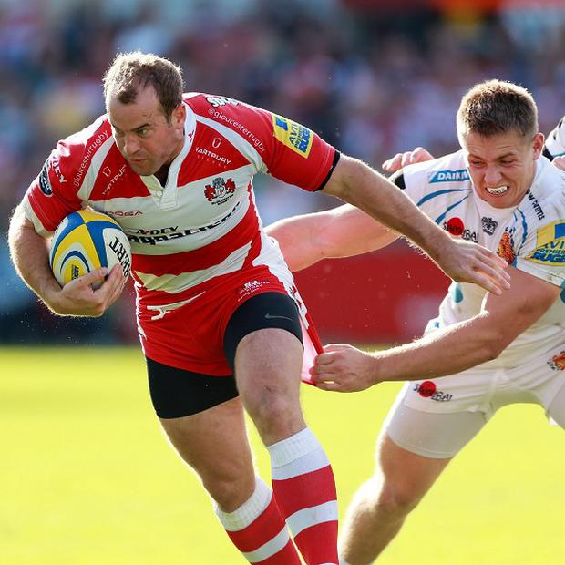 James Simpson-Daniel, left, leads a cast of five players signing new contracts at Gloucester