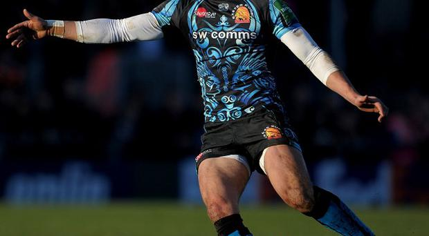 Exeter's Henry Slade was on target with the boot but could not prevent Heineken Cup defeat to Glasgow.
