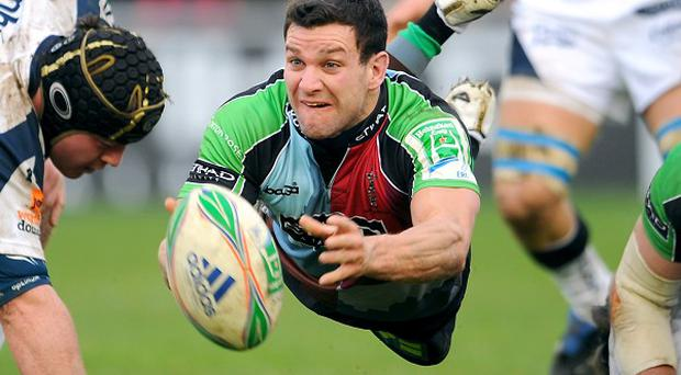 Harlequins' scrum-half Karl Dickson, pictured, scored in the 22-20 win over Scarlets in Sunday's Heineken Cup action