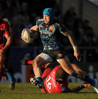 Jack Nowell, centre, is on the brink of an England debut.