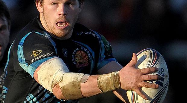 Luke Cowan-Dickie went over twice for Exeter