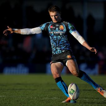 England Saxons' Henry Slade was sin-binned in the 16-16 draw with Scotland A.