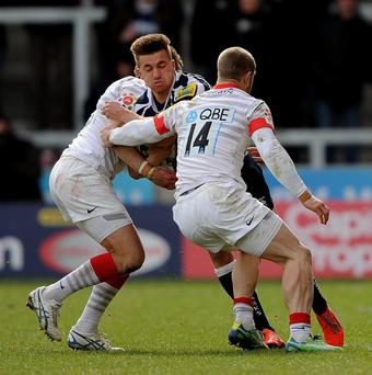 Sale Sharks' Charlie Ingall (centre) was on the losing side.