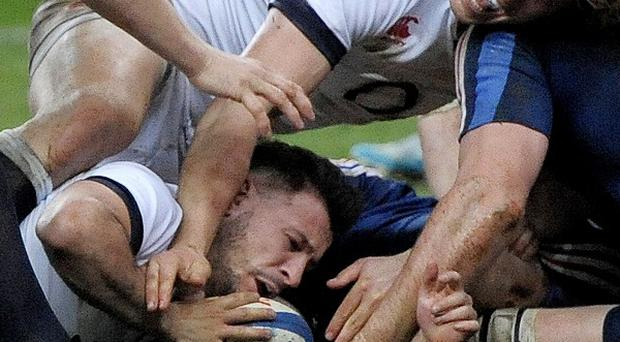 Danny Care was inches away from a try against France