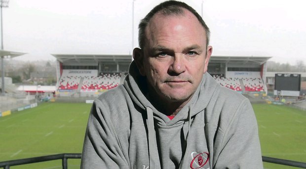 Mark Anscombe at Ravenhill yesterday after signing a contract extension to remain with Ulster