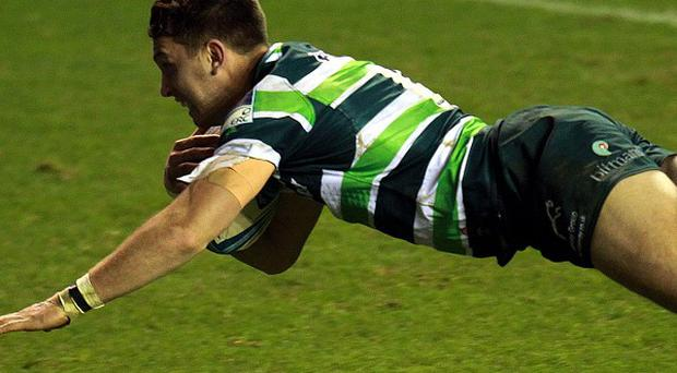 Tries from Matt Parr, Alex Lewington, pictured, and George Skivington put London Irish 22-8 up at the break