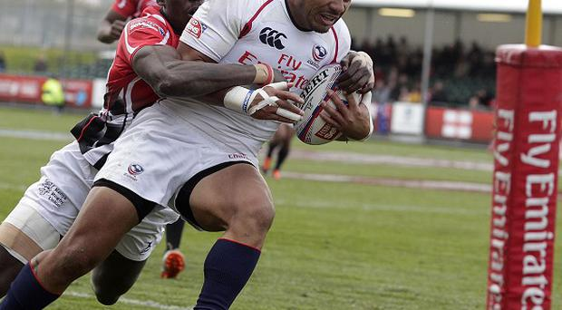 New Glasgow signing Folau Niua, right, in action for USA Sevens at Scotstoun in 2012