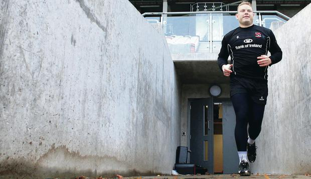 On the way out: Tom Court in his last season with Ulster before he moves on to London Irish