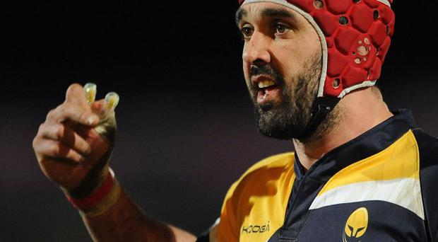 Jonathan Thomas was sent off during Worcester's defeat to Northampton