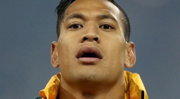 Israel Folau scored three tries for the Waratahs on Sunday