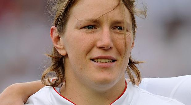 England prop Rochelle Clark is closing in on a century of appearances