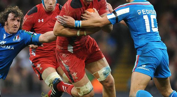 Luke Charteris (centre) has been ruled out of Wales' clash against England